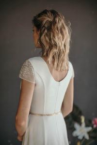 Минималистичное свадебное платье для современной невесты Aloha от Миламира