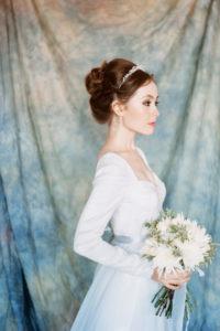 Зимнее свадебное платье рыбка Андромеда от Миламира
