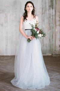 Лавандовое свадебное платье Бурея от Миламира