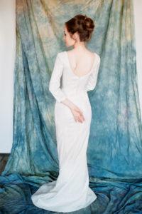 Элегантное свадебное платье с рукавами Кассиопея от Миламира