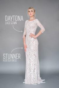 Эффектное кружевное свадебное платье Daytona от Миламира