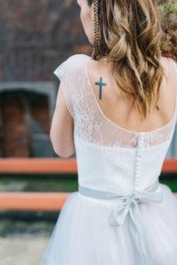Женственное фатиновое свадебное платье Dyna от Миламира