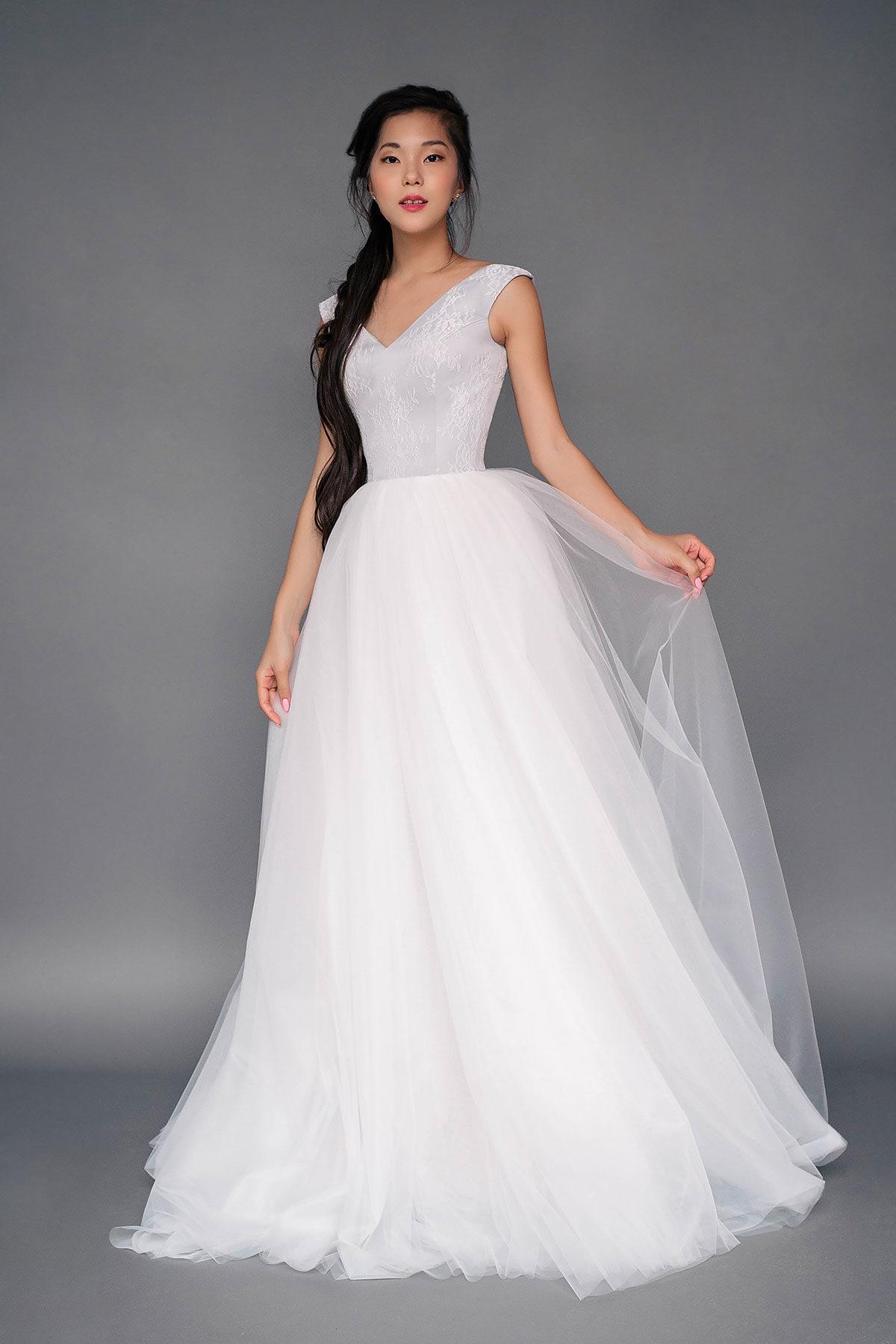 Классическое цветное свадебное платье Elsinore от Миламира