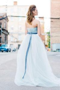 Свадебное платье с драпировкой Форза (бренд Миламира)
