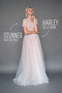 Легкое свадебное платье с горошками Harley от Миламира