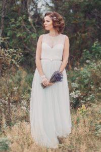 Фисташковое свадебное платье Хиония (бренд Миламира)