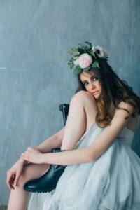 Серое свадебное платье Исидора (бренд Миламира)