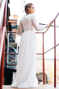 Эффектное свадебное платье из шифона Ява от Миламира