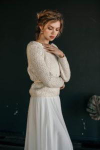 Свадебный свитер из 100% роскошной итальянской шерсти Mahana от Миламира