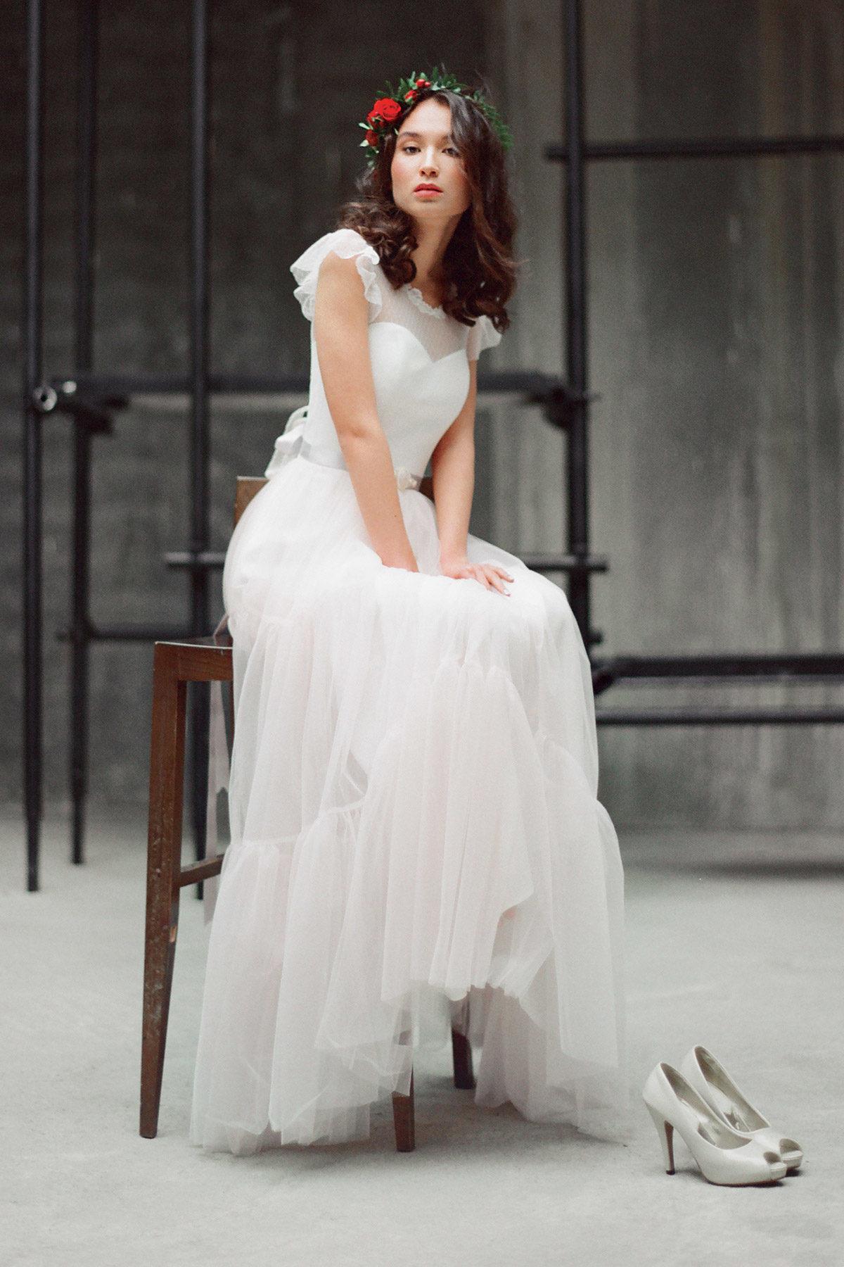 Розовое свадебное платье Мирослава (бренд Миламира)