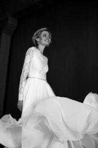 Легкое свадебное платье с кружевным лифом Moana от Миламира