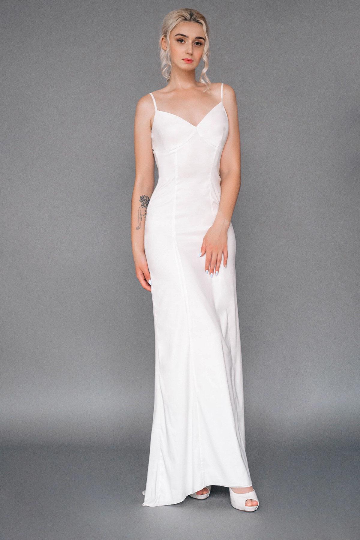 Платье-комбинация с небольшим шлейфом Stunner от Миламира