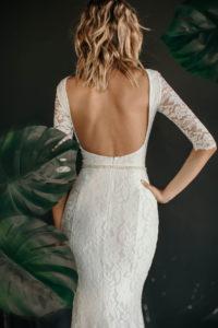 Кружевное свадебное платье с открытой спинкой Wai от Миламира