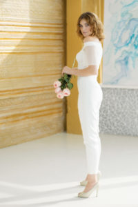 Классический свадебный комбинезон Moon от Миламира