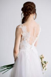 Женственное свадебное платье без рукавов Ирия (Миламира)