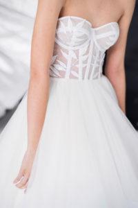 Свадебное платье с полупрозрачным корсажем Мила (Миламира)