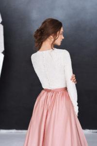 Свадебное платье с лифом из кружева Отрада (Миламира)