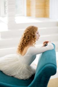 Необычное свадебное платье с клетчатой юбкой Eir от Миламира